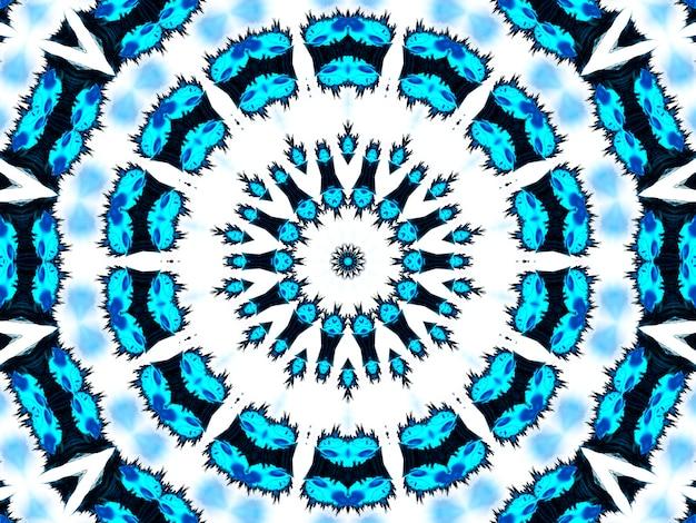 Голубой неоновый узор. бесшовный узор из ацтеков. милый бесконечный орнамент. современный народный дизайн. винтажный дизайн в стиле бохо. геометрический народный стиль. индиго, черный, белый, голубой, неоновый рисунок африканского искусства