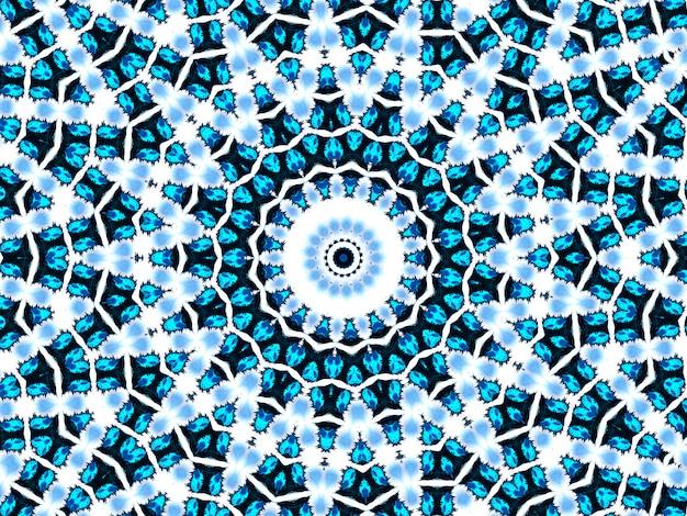 시안 네온 패턴입니다. 원활한 아즈텍 패턴입니다. 귀여운 끝없는 장식. 현대 민속 디자인. 빈티지 보호 디자인. 기하학적 민속 스타일. 인디고, 블랙, 화이트, 시안, 네온 아프리카 아트 드로잉.