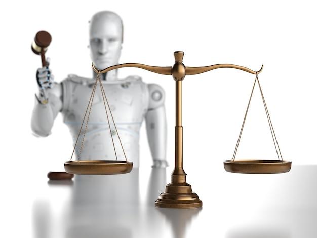 法のスケールでaiロボットとサイバー法またはインターネット法の概念