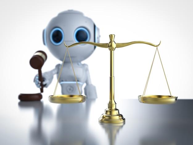 サイバー法またはaiロボットと法のスケールを使用したインターネット法