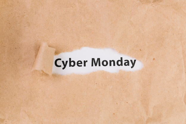Cyber monday inscription
