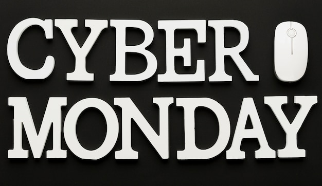 Cyber monday message with mouse