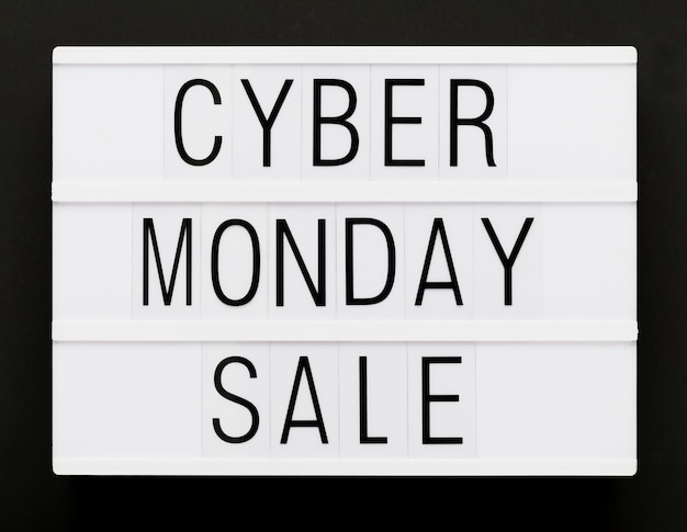 Cyber monday promotional message