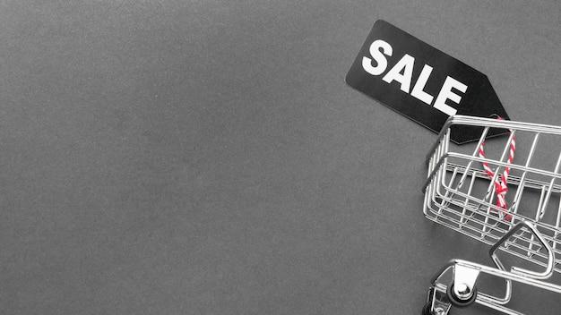 Cyber lunedì vendita carrello copia spazio