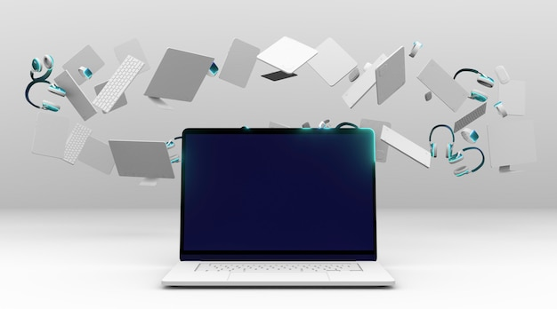 새로운 노트북으로 사이버 월요일