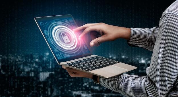 사이버 보안 및 디지털 데이터 보호 개념