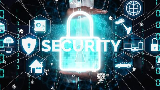 Концептуальная кибербезопасность и защита цифровых данных