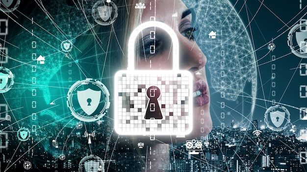 Cyber security and digital data protection conceptual