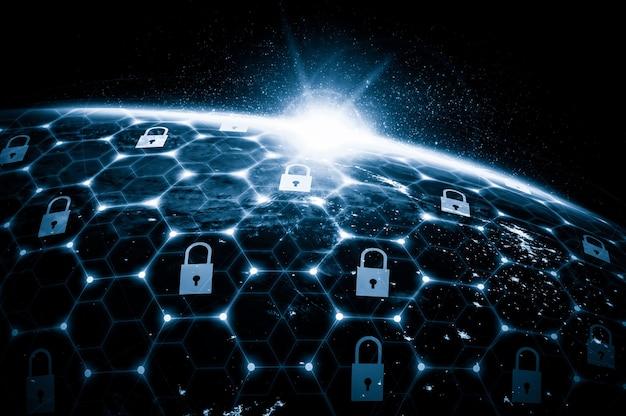 Технологии кибербезопасности и защита данных в интернете в инновационном восприятии Premium Фотографии