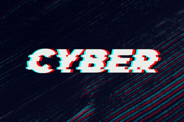 Testo informatico in caratteri glitch