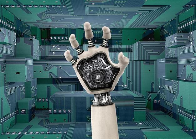 Cyborg hand built with gears