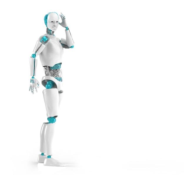 Cyborg man, isolated