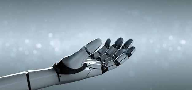 Cyborg robot hand - 3d rendering