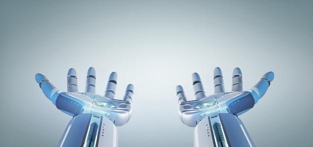 Рука робота-киборга на мундире