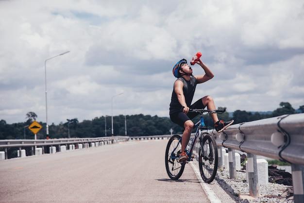 Cyclist the bike
