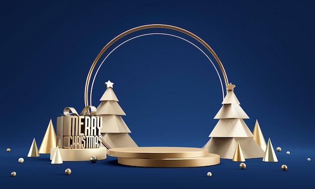 크리스마스 실린더 연단 배경