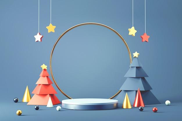 クリスマスのシリンダー表彰台。