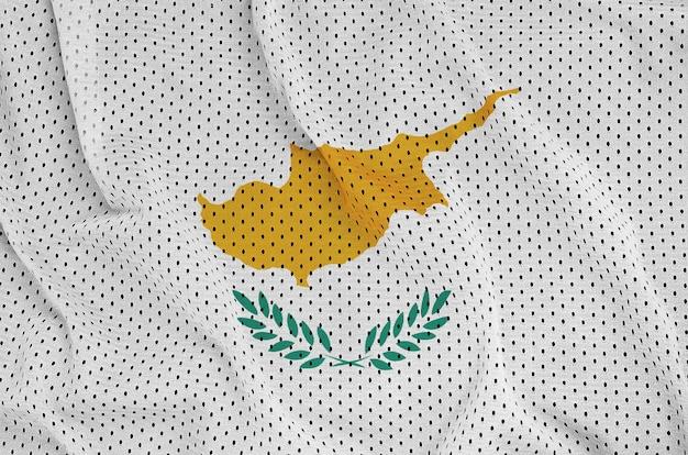 ポリエステルナイロンスポーツウェアメッシュ生地にキプロスの旗を印刷