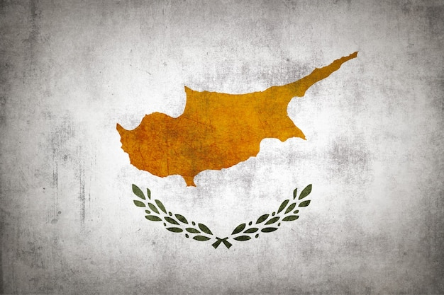 Cyprus flag with grunge texture.