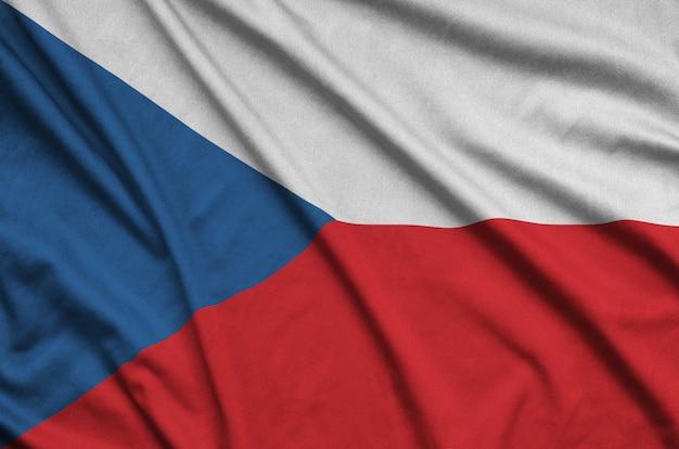 Czech flag with many folds.