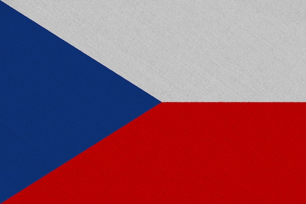 Czech republic fabric flag
