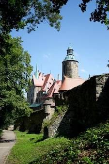 Czocha castle located in the town of sucha in poland
