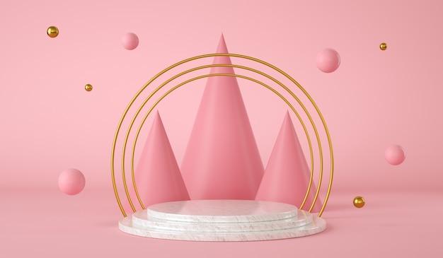 D иллюстрация абстрактный фон с подиумом современный фон для дизайна продукта