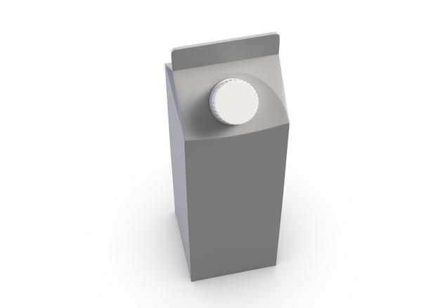白い背景の上のジュースボックスのdイラスト