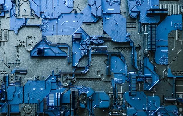 D визуализировать электронную доску абстрактный фон цифровых технологий