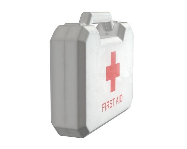 흰색 절연 응급 처치 키트의 d 렌더링