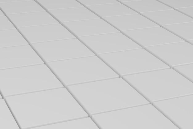 D 렌더링 흰색 빈 기하학적 블록 패턴
