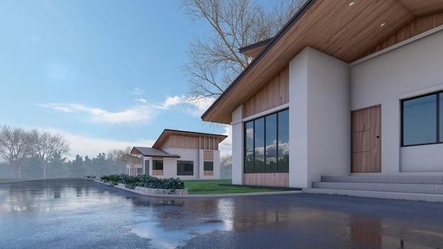 D 렌더링 건축 주택