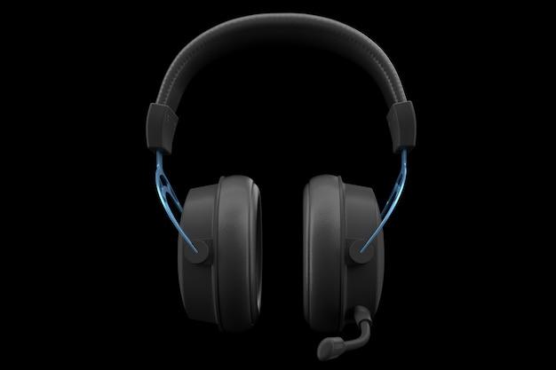 D-рендеринг игровых наушников с микрофоном для облачных игр и потоковой передачи