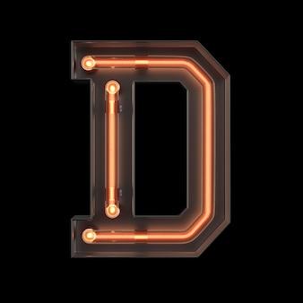 Неоновый свет алфавит d