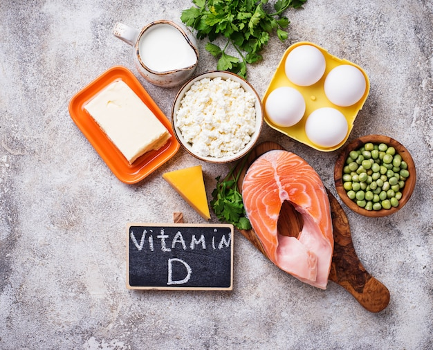Здоровая пища, содержащая витамин d