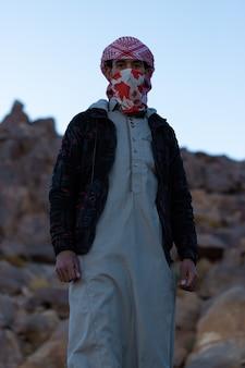 シナイ山脈のベドウィンのダハブエジプトの肖像画