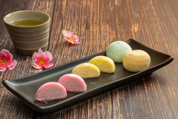 Daifukumochi, or daifuku, is a japanese confection consisting of a small round mochi stuffed with sweet filling, japanese traditional sweets.