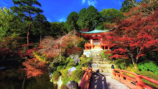 Daigo-ji temple with autumn colors, kyoto