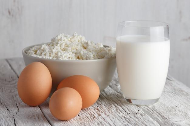 유제품 및 계란 프리미엄 사진