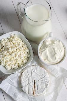 Молочные продукты на столе