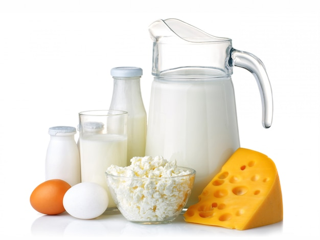 Dairy and protein products concept