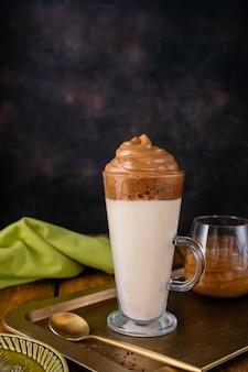 Dalgona coffee, a delicious foamy whipped coffee