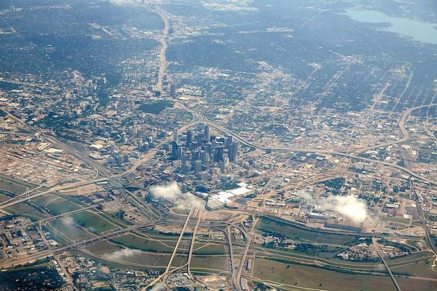 Dallas aerial view in texas usa