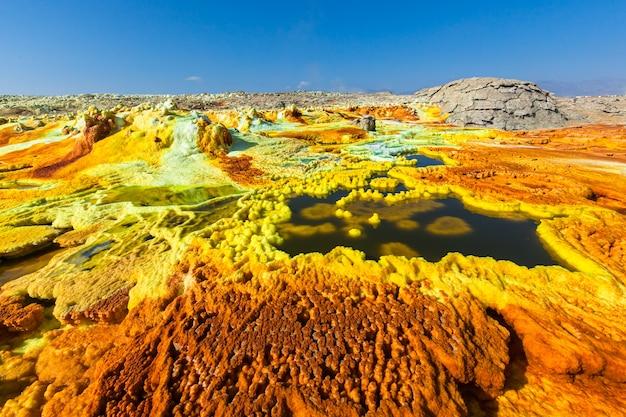 ダナキルうつ病dallol火山カラフルな酸性硫黄湖