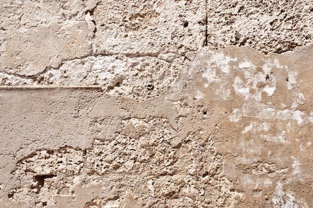 Damaged concrete wall