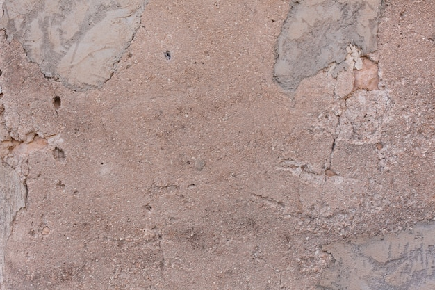 Damaged cracked stucco wall