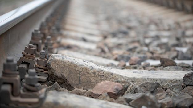 Damaged rail. reinforced concrete support broke.