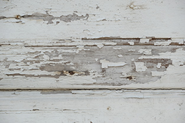 Damaged wooden wall