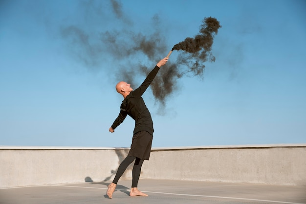 Dancer doing elegant performing art