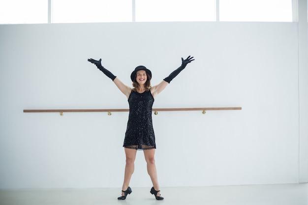 Dancer practicing contemporary dance